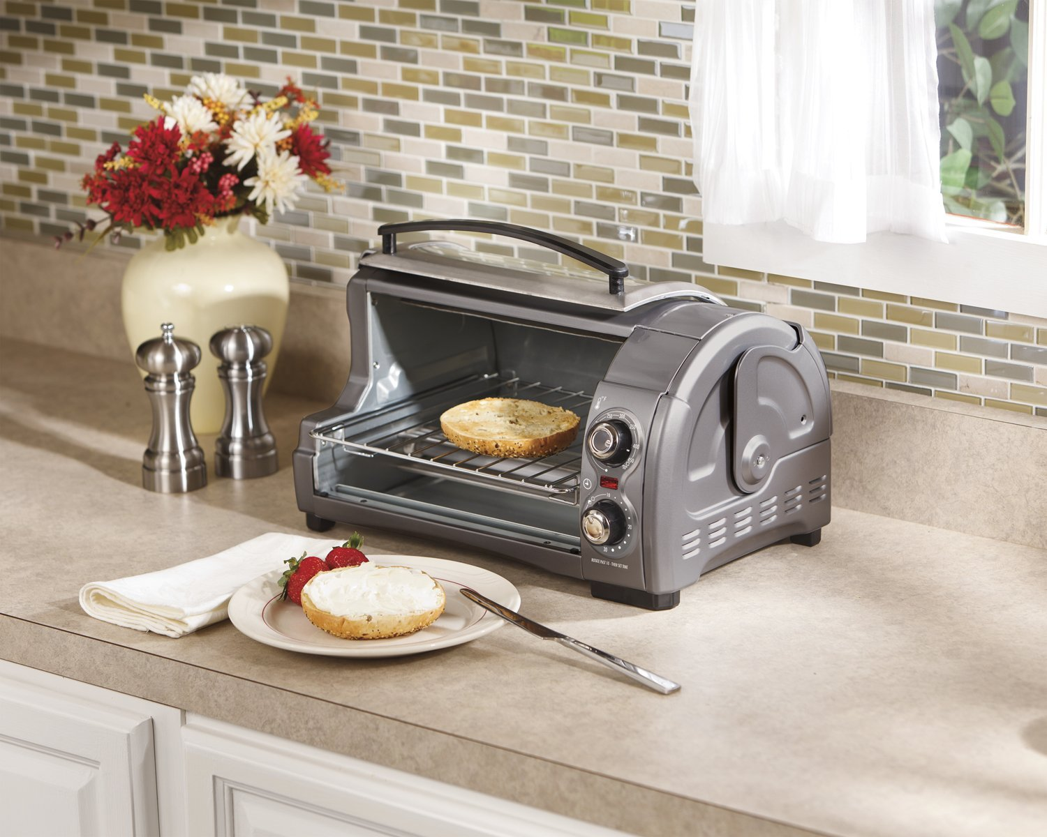 Hamilton Beach Easy Reach Toaster Oven Great For Tight